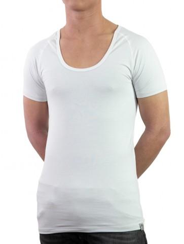 シルバーシャツ 半袖Uネック
