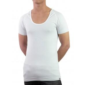 Short Sleeve Shirt-Silver crew-neck