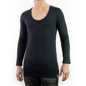 Long Sleeve Shirt-Silver crew-neck