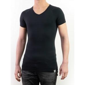Short Sleeve Shirt-Silver V-neck