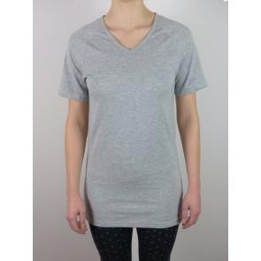 "Short Sleeve Shirt-Silver V-neck ""Jersey"""